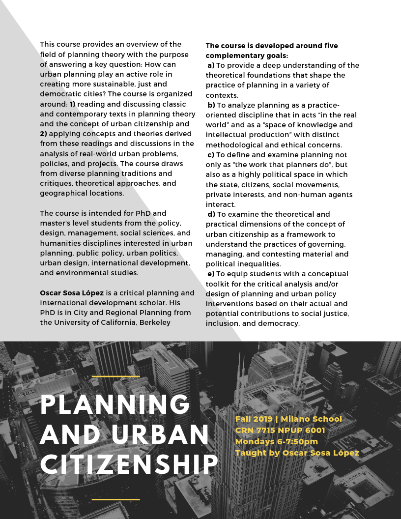 F '19 Course_ Planning and Urban Citizenship